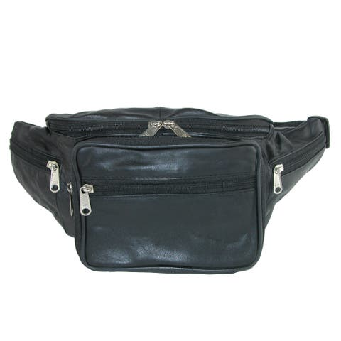 a83d9ce8c1a CTM® Leather Large Organizer Waist Pack - one size