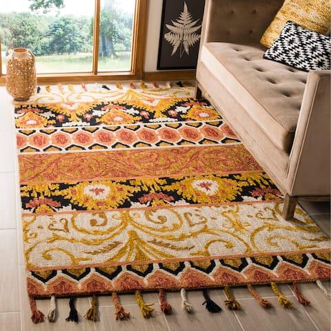 Safavieh Handmade Suzani Eunice Boho Tribal Wool Rug