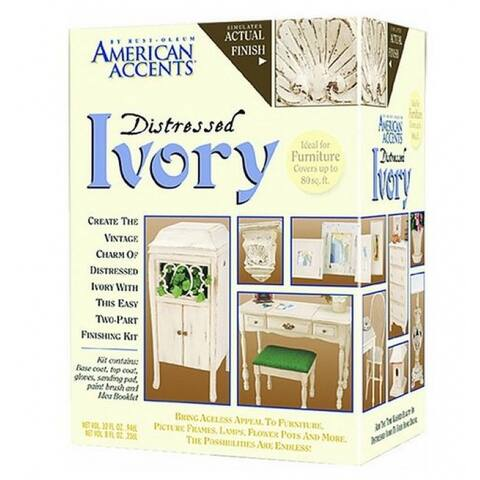 American Accents 202867 Distressed Finish Kit, 12 Oz, Ivory