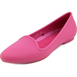 Crocs Eve Flat Women Pointed Toe Synthetic Purple Flats