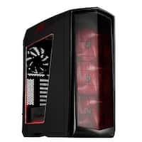 Primera Tower ATX Computer Case - White with Red