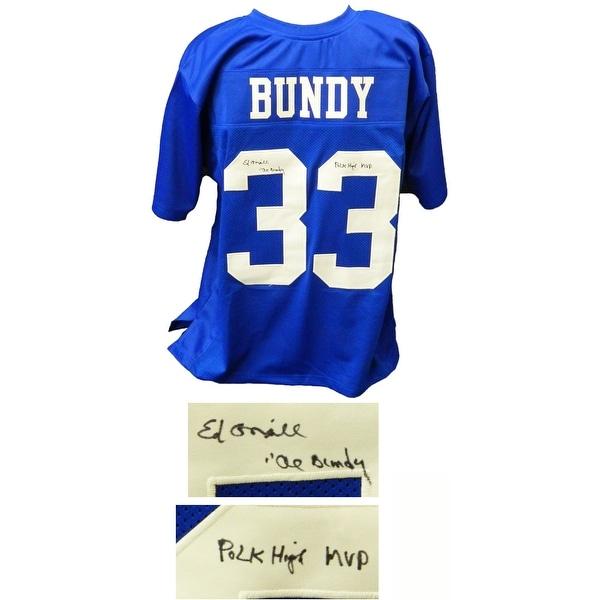 c6fe470d0 Shop Ed ONeill Al Bundy 33 Polk High Blue Football Jersey wAl Bundy Polk  High MVP - Free Shipping Today - Overstock - 21421997