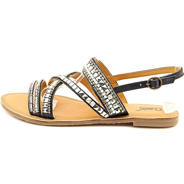 Carlos by Carlos Santana Womens MIA Leather Open Toe Beach Slide Sandals
