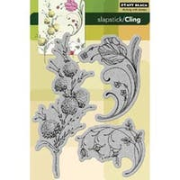 "Delicate Florals - Penny Black Cling Rubber Stamp 5""X7.5"" Sheet"