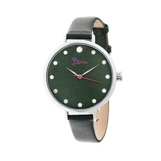 Boum Perle Women's Quartz Watch, Genuine Leather Band
