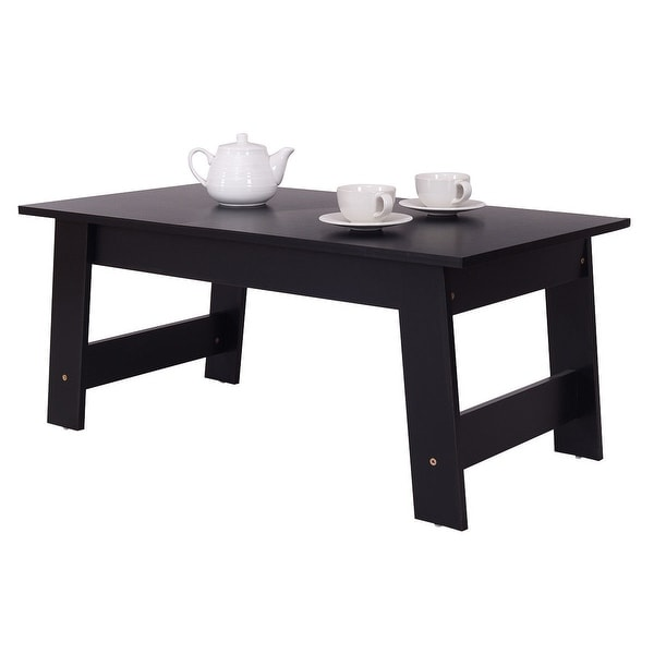 Modern Black Coffee Table For Sale: Shop Costway Convenient Coffee Table Side End Table Home