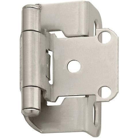 Amerock BPR7550G10 Self-Closing Partial Wrap Hinge, Satin Nickel