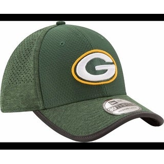 New Era Mens Green Bay Packers 2017 Training Camp 39Thirty Green Flex Hat, Green