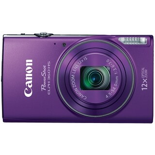 Canon PowerShot ELPH 360 HS Digital Camera (Purple)