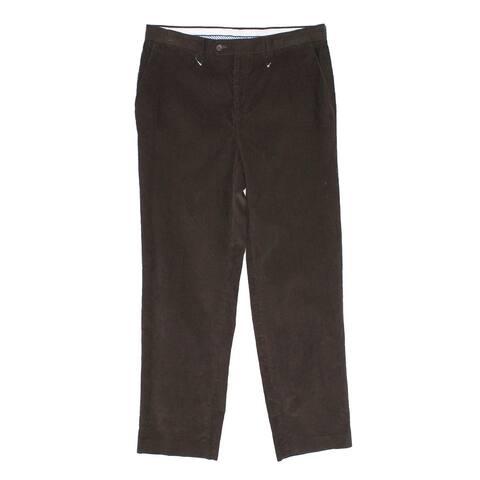 Lauren by Ralph Lauren Mens Pants Brown Size 40 Classic Fit Corduroy