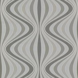 Brewster 488-31206 Hendrix Silver Gravure Ogee Wallpaper
