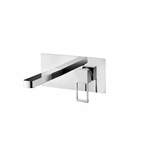 WS Bath Collections Effe EF 101 Effe Wall Mounted Bathroom Faucet - Polished Polished Chrome