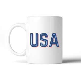 USA With Stars 11oz Unique Design Coffee Mug Cute Patriotic Gifts