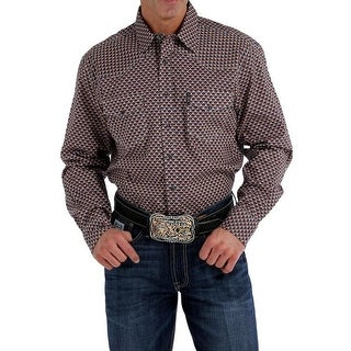 Cinch Western Shirt Mens Long Sleeve Print Logo Multi Color - multi-color