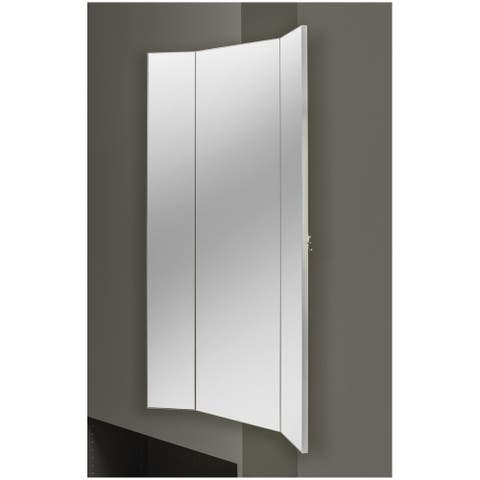 """Rev-A-Shelf CMTWSL-1448-1 Sidelines 48"""" Tri-Fold Pull Out Mirror with - Silver"""