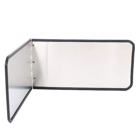"""Stainless Steel Foldable Kitchen Wall Oil Splash Guard Block Cover 11.8"""" x 6"""""""