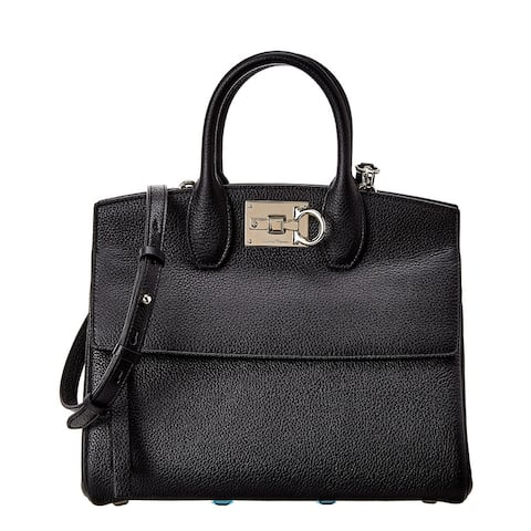 Salvatore Ferragamo Studio Small Leather Satchel