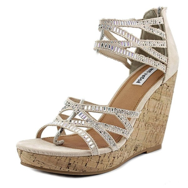 Not Rated Captain Crunchy Women Open Toe Suede Tan Wedge Sandal