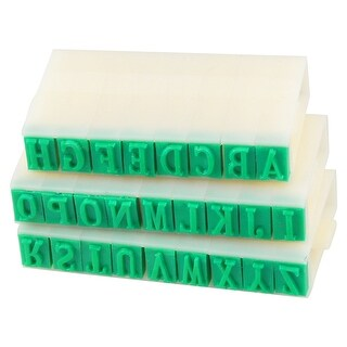Unique Bargains White Green Detachable Assembly Plastic English Alphabet Stamp 26 in 1