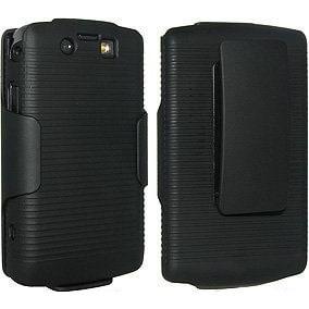 OEM Verizon Blackberry Storm 2 II 9550 Combo Shell Holster Hard Case (Black) (Bu