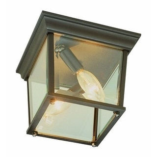 Trans Globe Lighting 4905 Two Light Down Lighting Outdoor Square Flush Mount Ceiling Fixture from the Outdoor Collection