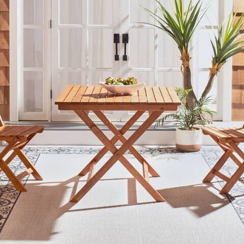 """SAFAVIEH Outdoor Living Kresler Folding Table - 35.4""""x35.4""""x29.5"""""""
