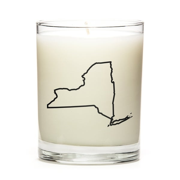 Custom Candles with the Map Outline New-York, Apple Cinnamon