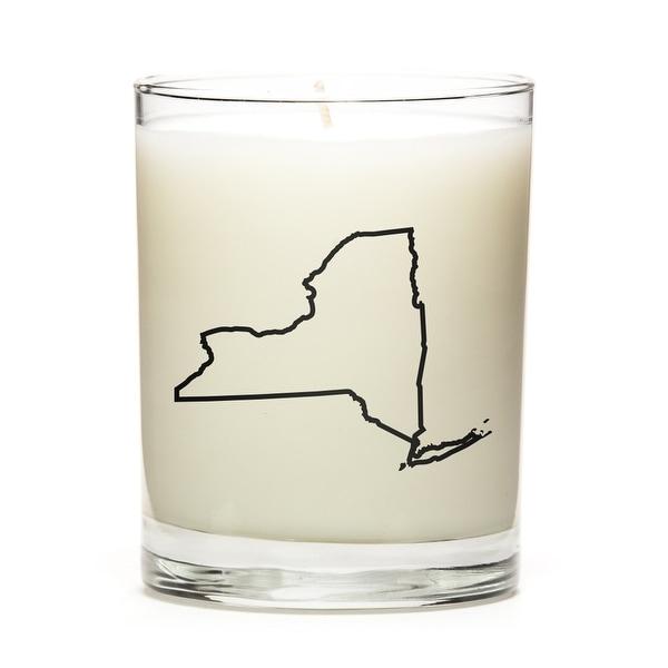 Custom Gift - Map Outline of New-York U.S State, Peach Belini