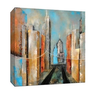 """PTM Images 9-147353  PTM Canvas Collection 12"""" x 12"""" - """"Streetscape I"""" Giclee New York Art Print on Canvas"""