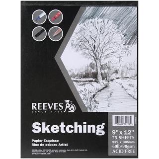 "Reeves Sketching Paper Pad 9""X12""-75 Sheets"