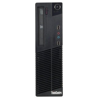 Lenovo ThinkCentre M81 Desktop Computer SFF Intel Core I5 2400 3.1G 8GB DDR3 2TB Windows 7 Pro 1 Year Warranty (Refurbished)