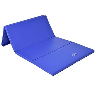 Gymax 4'x8'x2'' Gymnastics Mat Thick Folding Panel Fitness Exercise Mat Blue