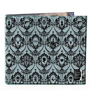 Sherlock Holmes Men's Bi-Fold Wallet: 221B Wallpaper (Grey)