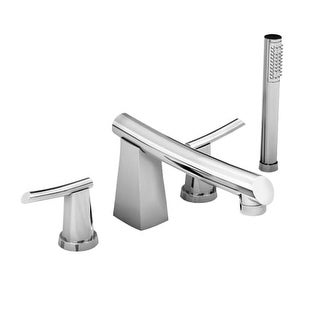 American Standard 7010.901 Double Handle Roman Tub Filler Faucet with Personal Hand Shower and Non-Diverter Tub Spout from the