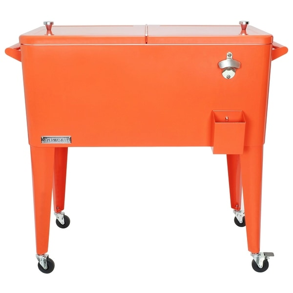 Permasteel 80 Qt. Patio Cooler, Orange. Opens flyout.