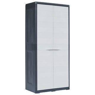 "Link to vidaXL Garden Storage Cabinet XL 30.7""x18.1""x68.9"" Plastic Similar Items in Warehouse Furnishings"