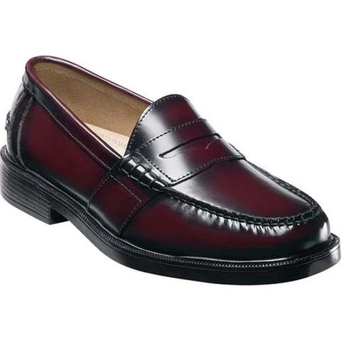 Nunn Bush Men's Lincoln Penny Loafer Burgundy Polished Leather