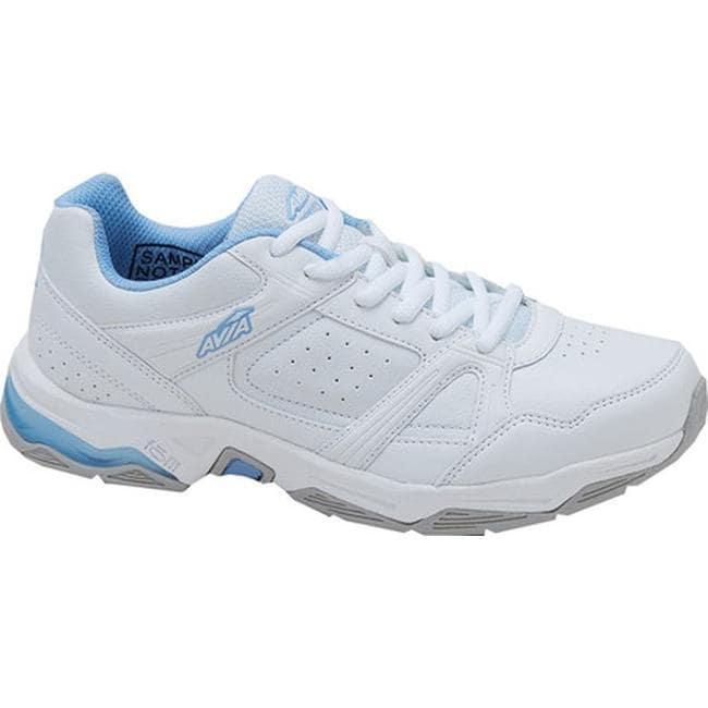 9d52a0e93b7e Shop Avia Women s Avi-Rival Cross Training Shoe White Powder Blue - On Sale  - Free Shipping On Orders Over  45 - Overstock - 14174943