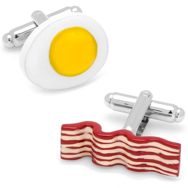 Bacon and Eggs Breakfast Cufflinks