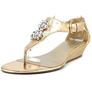 Bandolino Platana Open Toe Synthetic Wedge Sandal