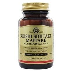 Solgar Reishi Shiitake Maitake Mushroom Extract (50 Veggie Capsules)