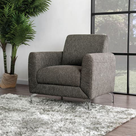 Furniture of America Wola Contemporary Linen Fabric Padded Armchair