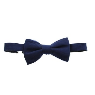 Private Label Mens Silk Solid Bow Tie - o/s