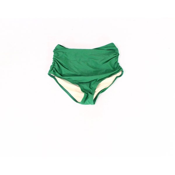 Unique Vintage Green Womens Size Medium M Ruched Bikini Bottom