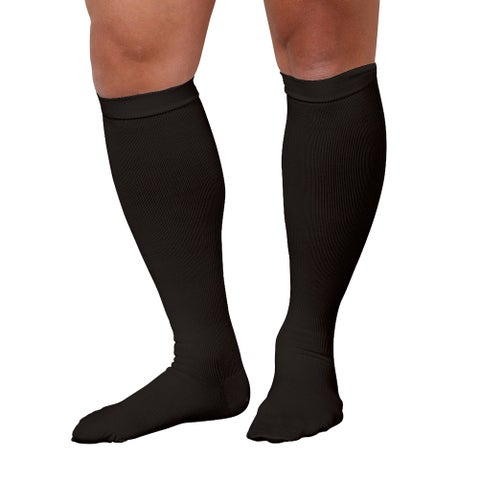 Men's Support Plus Firm Compression Support Brown Dress Socks