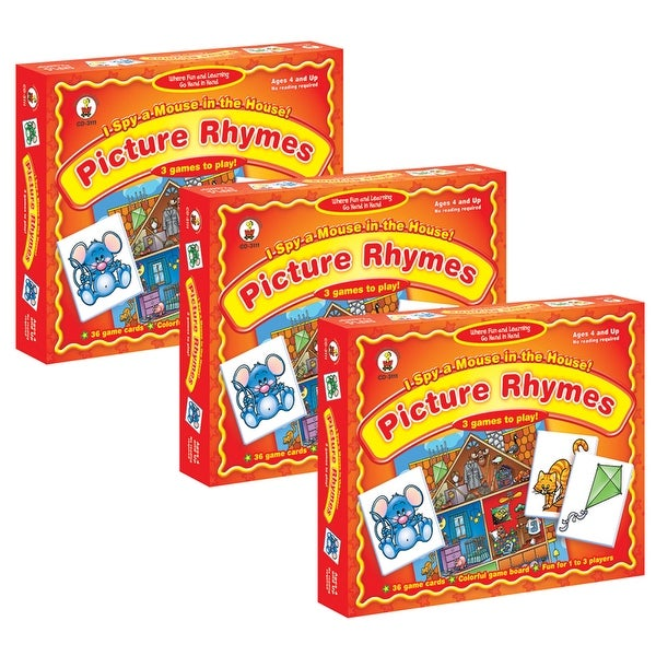 (3 Ea) Game I Spy A Mouse In The House Ages 4 & Up Picture Rhymes