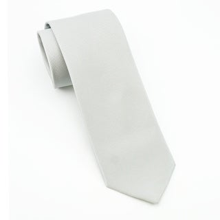 Men's 100% Silk White Tie