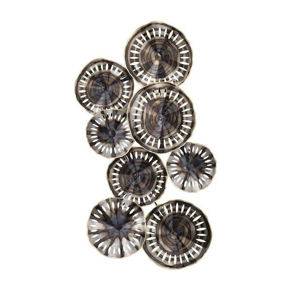 """49"""" Silver Metal Novae Pierced Sculpture Wall Decoration - N/A"""