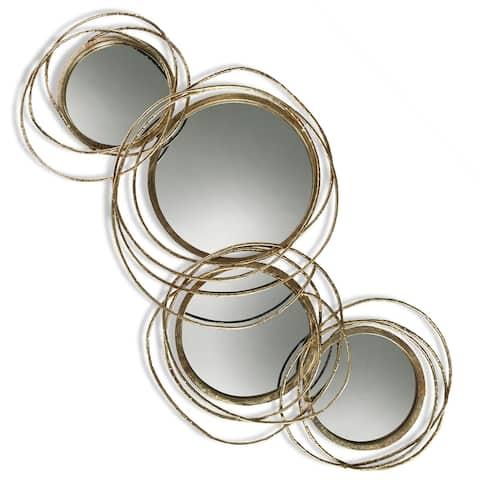 Harp & Finial Conway Gold Metal Mirror