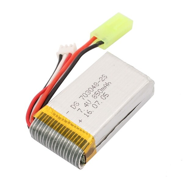 DC 7.4V 850mAh Rechargable Lithium Li-ion Battery for RC Boat Toy Cars